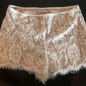 White Lace Tobi Shorts